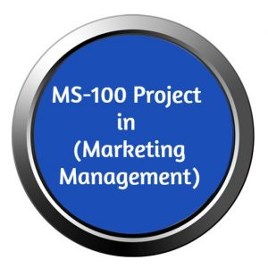 ignou mba project ms-100 in marketing management