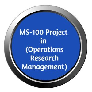 ignou mba project ms-100 in operation research management
