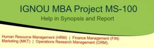 IGNOU-MBA-Project-MS-100-Help-in-Synopsis-and-Report